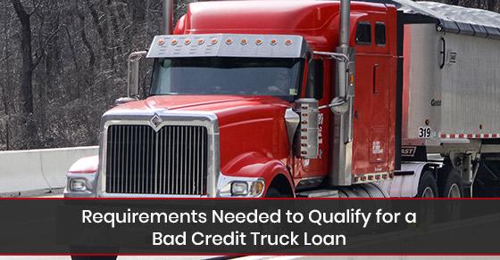 Information on bad credit truck loan