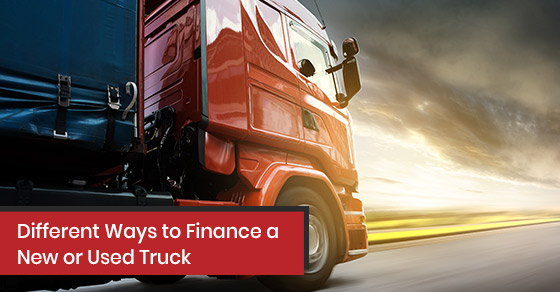 Financing options for new or used truck