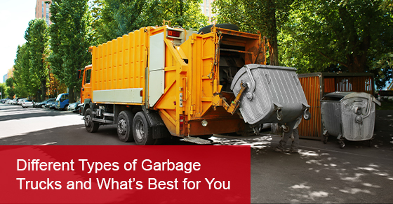 What are the different types of garbage trucks?